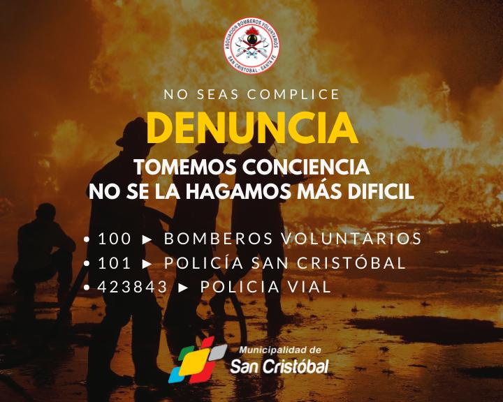 Incendios San Cristóbal - NO seas complice CABLE